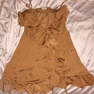 Copper Tobi Wrap Dress